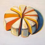 Wayne Thiebaud, Cheese Slices (1986), Wayne Thiebaud. Private collection.