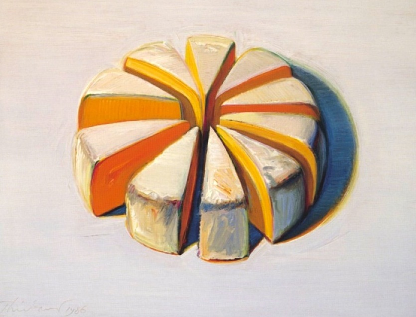Wayne Thiebaud, Cheese Slices (1986), Wayne Thiebaud. Private collection.