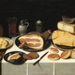 Floris van Schooten, Still Life with Ham, 1640. Oil on wood, 63 × 83 cm. Paris: Musée