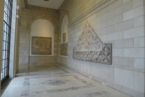 View of Fox Court at the Baltimore Museum of Art showing portions of the museum's collection of late antique mosaics from Antioch. Photograph by author, 2018.