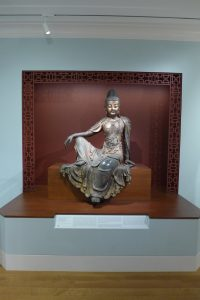 A 15th-century Water-Moon Guanyin in the Asian Art Galleries at the Baltimore Museum of Art. Photograph by author, 2018.