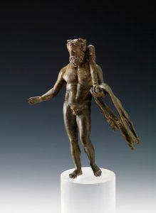 Bronze Hercules from Qaryat Al-Faw, Saudia Arabia