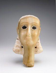 """Miryam"" Alabaster Votive Head, Qatabanian"